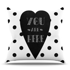 Great price You Are Here by Skye Zambrana Outdoor Throw Pillow