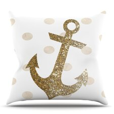 Glitter Anchor by Nika Martinez Outdoor Throw Pillow