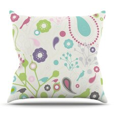 No Copoun Bird Song by Nicole Ketchum Outdoor Throw Pillow