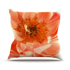 Wonderful Blushing Peony by Pellerina Design Outdoor Throw Pillow