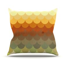 Half Circle Waves Color by Danny Ivan Outdoor Throw Pillow