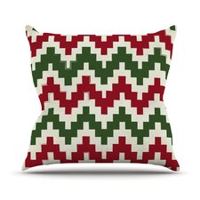 Christmas Gram Outdoor Throw Pillow