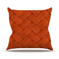 Fresh Chevron Weave Outdoor Throw Pillow