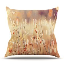 Read Reviews You are Precious by Suzanne Carter Outdoor Throw Pillow