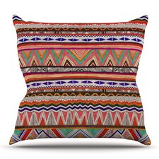 Native Tessellation by Vasare Nar Outdoor Throw Pillow