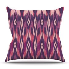 Ikat by Amanda Lane Outdoor Throw Pillow