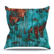 Rusty Teal by Iris Lehnhardt Outdoor Throw Pillow