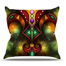 Great price Fleur De Lis by Mandie Manzano Outdoor Throw Pillow