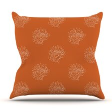 Simpley Protea by Anneline Sophia Outdoor Throw Pillow