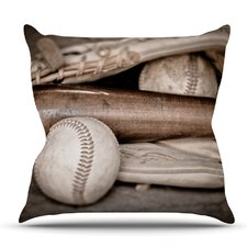 Play Ball by Debbra Obertanec Outdoor Throw Pillow