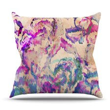 Weirdi Kat by Nikki Strange Outdoor Throw Pillow