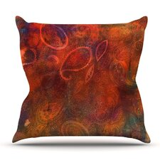 Tie Dye Paisley by Nikki Strange Outdoor Throw Pillow