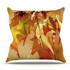 Autumn Leaves by Angie Turner Outdoor Throw Pillow