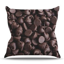 Comparison Yay! Chocolate by Libertad Leal Outdoor Throw Pillow