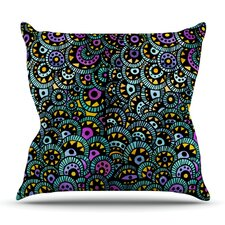 Best #1 Peacock Tail by Pom Graphic Design Outdoor Throw Pillow