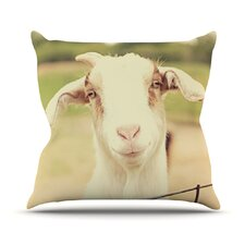 2017 Sale Happy Goat by Angie Turner Outdoor Throw Pillow