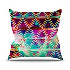Neon Geo Galaxy by Alveron Outdoor Throw Pillow