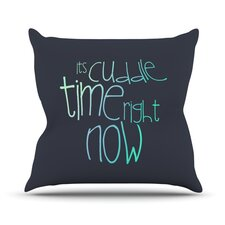 Cuddle Time Mint Outdoor Throw Pillow
