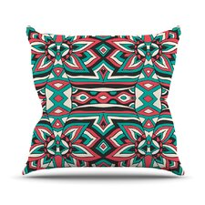 Top Reviews Ethnic Floral Mosaic by Pom Graphic Design Outdoor Throw Pillow