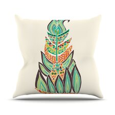 Cool Tribal Feather by Pom Graphic Design Outdoor Throw Pillow