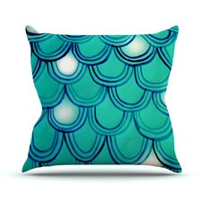 Mermaid Tail Outdoor Throw Pillow