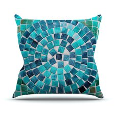 No Copoun Circular by Sylvia Cook Outdoor Throw Pillow