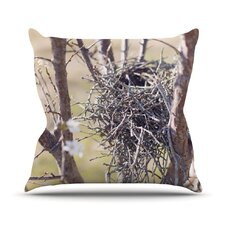 Nest by Catherine McDonald Outdoor Throw Pillow