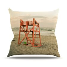 Dusk At the Beach by Debbra Obertanec Outdoor Throw Pillow