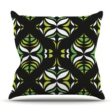 Retro Train by Miranda Mol Outdoor Throw Pillow