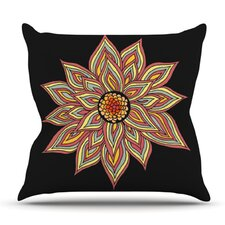 No Copoun Incandescent Flower by Pom Graphic Design Outdoor Throw Pillow