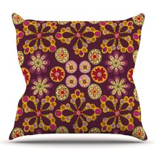 Great price Indian Jewelry Floral by Jane Smith Outdoor Throw Pillow