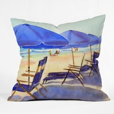 Beach Chairs by Laura Trevey Indoor/Outdoor Throw Pillow