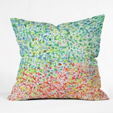 Fresh Cool To Warm by Laura Trevey Indoor/Outdoor Throw Pillow