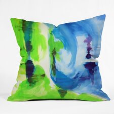 Today Sale Only Shot Of Lime Outdoor by Laura Trevey Throw Pillow