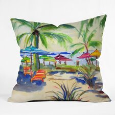 Fresh Caribbean Time by Laura Trevey Indoor/Outdoor Throw Pillow