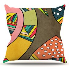 Cosmic Aztec by Danny Ivan Outdoor Throw Pillow