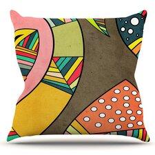 Cosmic Aztec by Danny Ivan Outdoor Throw Pillow