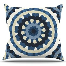 Ribbon Mandala by Laura Nicholson Outdoor Throw Pillow