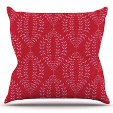 Laurel Leaf by Anneline Sophia Outdoor Throw Pillow