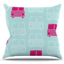 Beep Beep by Michelle Drew Outdoor Throw Pillow