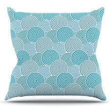 Ocean Swirl by Nick Atkinson Outdoor Throw Pillow