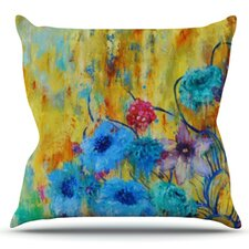 Sale Cosmic Love Garden by Sonal Nathwani Outdoor Throw Pillow