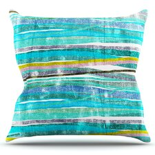 Fancy Stripes by Frederic Levy-Hadida Outdoor Throw Pillow