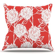Wonderful Protea by Gill Eggleston Outdoor Throw Pillow