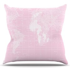Welcome to my World by Catherine Holcombe Outdoor Throw Pillow