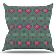 Pattern by Deepti Munshaw Outdoor Throw Pillow