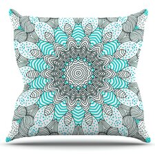 Dots and Stripes by Monika Strigel Outdoor Throw Pillow