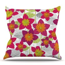 Wonderful Star Flower by Jacqueline Milton Outdoor Throw Pillow