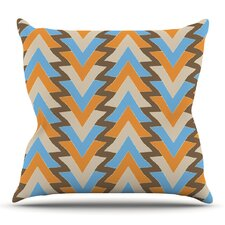 My Triangles by Julia Grifol Outdoor Throw Pillow