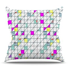 Squares by Michelle Drew Outdoor Throw Pillow